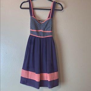 KimChi Blue Urban Outfitter multi color dress sz S